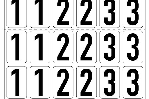 Number Stickers